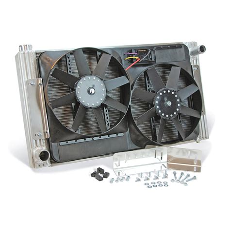 radiator and fan combo at summit racing equipment flex a lite fan and