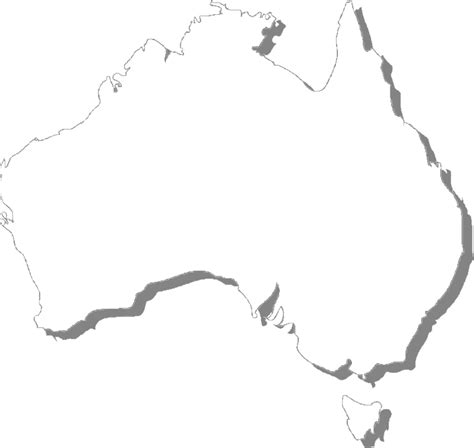 australia map outline blank map of australia