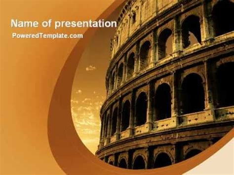 rome themes powerpoint colosseum powerpoint template by poweredtemplate com youtube