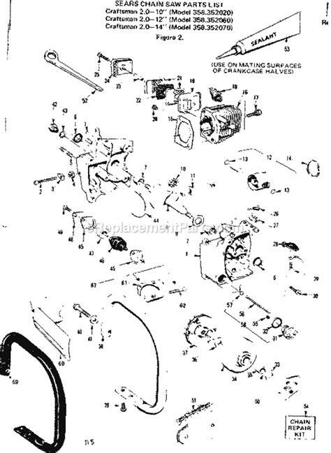 Craftsman Chainsaw 358352070 Ereplacementparts Com