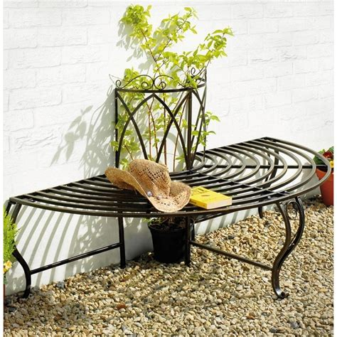 half tree bench chelsea half metal tree bench seat the garden factory