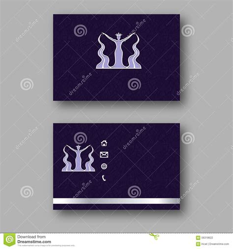 Card With Logo Template by Design Business Card With Logo Of The Goddess Of Water
