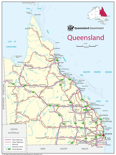 queensland australia map queensland road maps printable printable maps