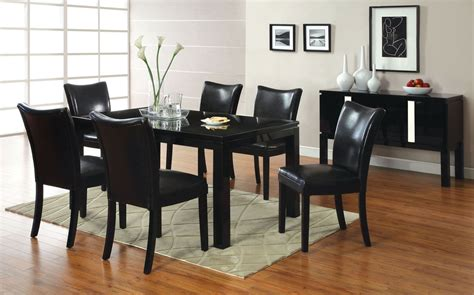 lamia i black high gloss rectangular leg dining room set