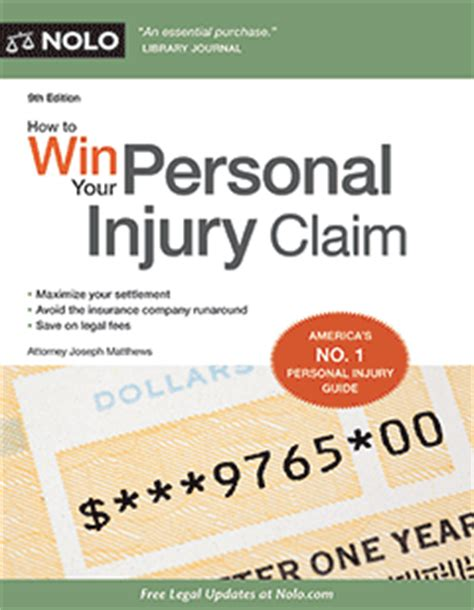 Demand Letter Personal Injury Slip And Fall How To Win Your Personal Injury Claim Book Nolo