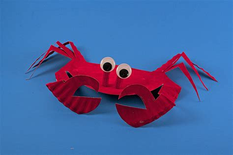 How To Make Paper Crab - paper plate sea crab 183 kix cereal
