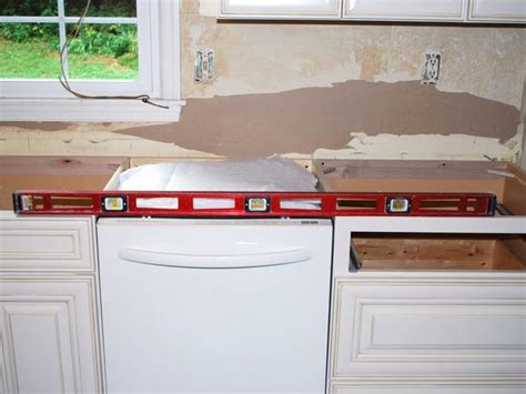 Installing Granite Countertops On Existing Cabinets by How To Install A Granite Kitchen Countertop How Tos Diy