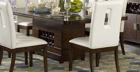 Dining Table With Wine Storage Homelegance Elmhurst Dining Table With Wine Storage 1410