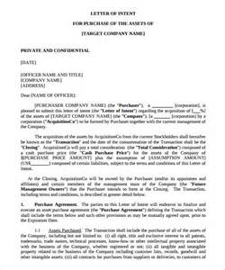 Letter Of Intent Format For Purchase Hotel 11 Purchase Letter Of Intent Templates Free Sle