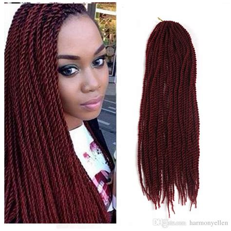 burgundy senegalese twists burgundy color small senegalese twist hair crochet 22inch