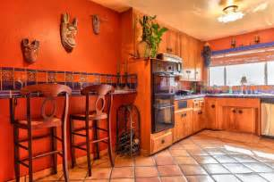 mexican tile backsplash kitchen kitchen with terracotta tile floors l shaped in