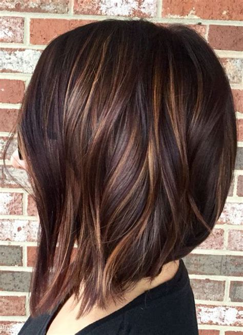 hair highlights for the spring with dark hair hair color dark brown layers with spring hairstyles ideas