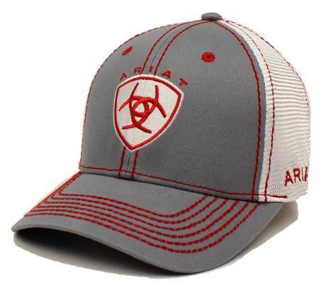 ariat western mens hat baseball cap mesh center shield