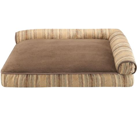 angled bed pillow jla pets elude strip right angle bolster lounger brown