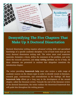 how many pages is a doctoral dissertation demystifying the five chapters that make up a doctoral