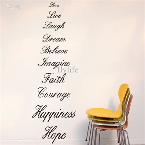 Home Decor Sayings The Most Meaningful Words In Life Large Vinyl Wall