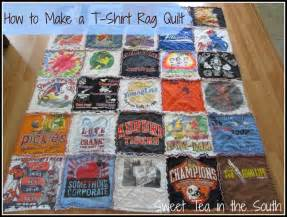 How to make a t shirt rag quilt the non quilter s quilt sweet tea