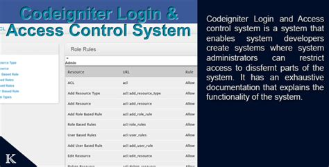 Codeigniter Login And Access Management System Nulled 187 Takcork Com Website Template Website Template With Login System