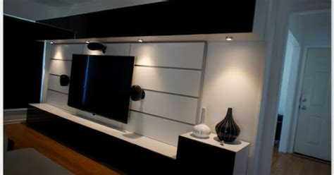 the great wall of ikea makely great entertainment center created with ikea besta and