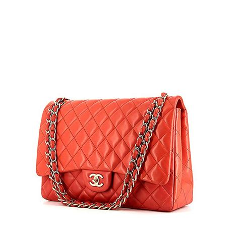 Coral Jumbo Maxy by Chanel Timeless Handbag 335953 Collector Square