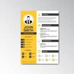 curriculum vitae and cover letter template vector free