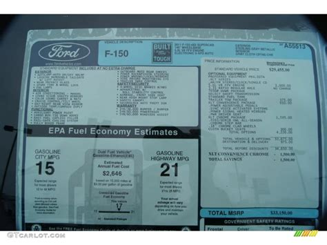 Ford Window Sticker by Ford Window Sticker From Vin Number Html Autos Weblog