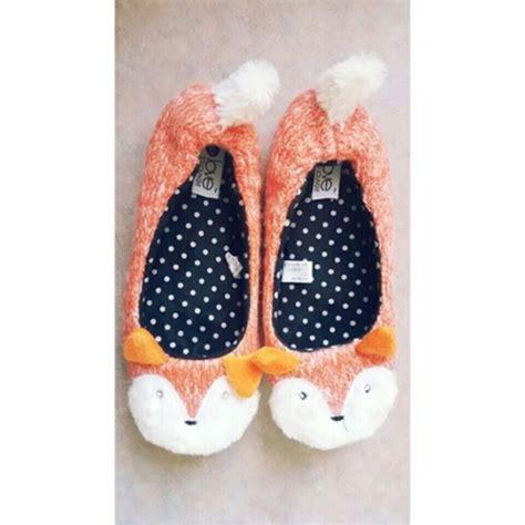 girly slippers shoes sweet orange sweety fox fashion