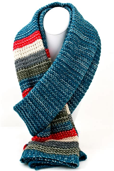 Multi Color Scarf knit multi color block scarf scarves