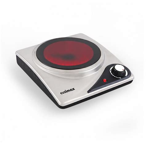 portable ceramic cooktop cusimax cmip s106 1200w stainless steel infrared cooktop