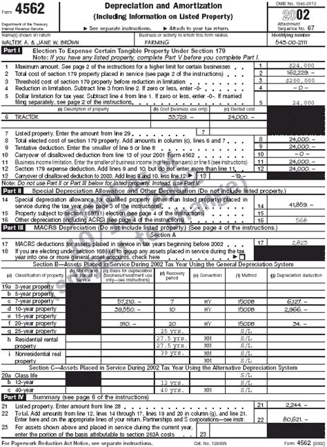 Form 4562 Worksheet by Publication 225 Farmer S Tax Guide Farmer S Tax Guide