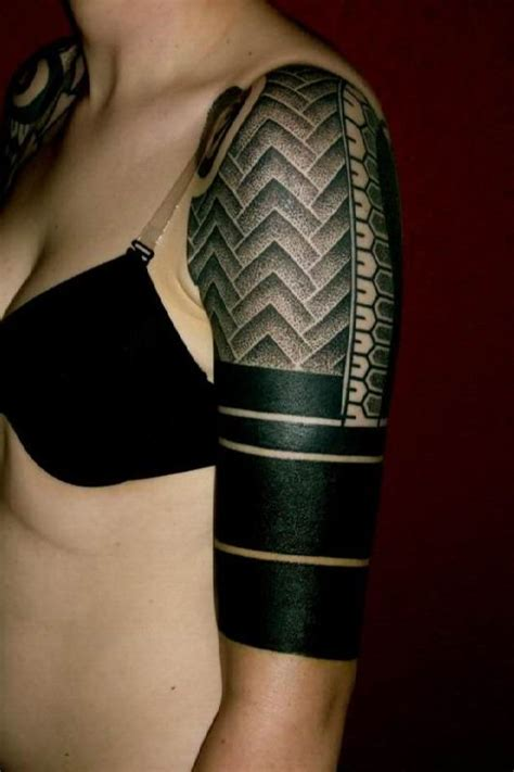 Black Pattern Tattoos | arm tattoo black pattern ideas tattoo designs