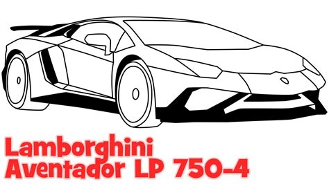 lamborghini car drawing how to draw a car lamborghini aventador step by step easy