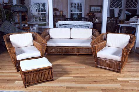wicker rattan living room furniture antique rattan wicker four set at 1stdibs