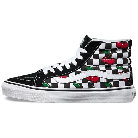 Vans Authentic Checkerboard Black Sole Premium Bnib Brand New In Box vans cherry checkers sk8 hi slim shoes