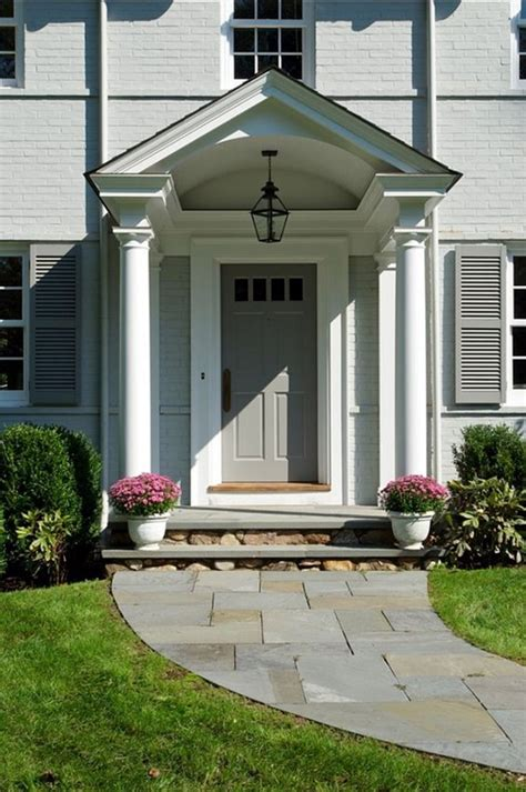 Portico Designs For Front Door 40 Lovely Door Overhang Designs Bored