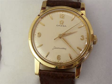 omega seamaster 18ct gold c 1961 secondhand and vintage