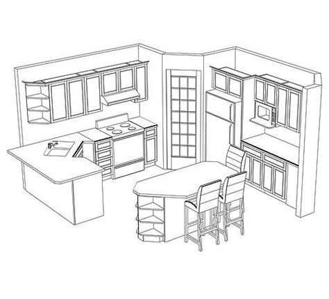 Pantry Cupboards Design Layout Potential Kitchen Layout With A Corner Pantry Mediidas