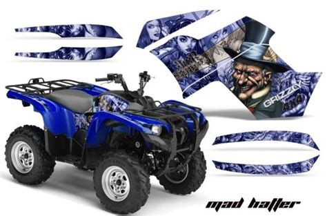 Yamaha Quad Sticker Kits by Yamaha Quad Graphic Sticker Decal Kit For Grizzly 700 Atv