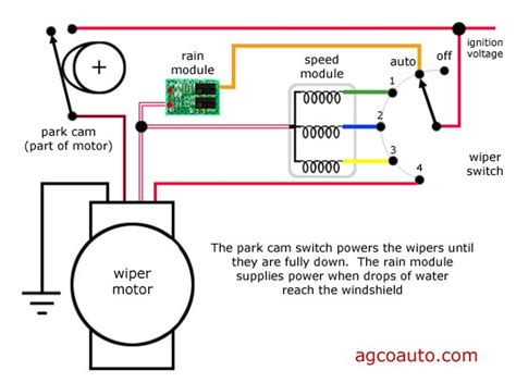 afi wiper motor wiring diagram automotivegarage org
