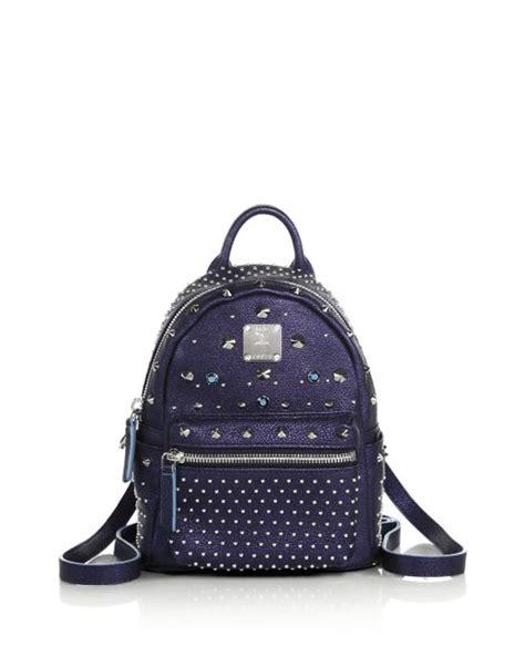 Mcm Stark Bebe Boo Backpack Mini mcm bebe boo x mini leather backpack in blue navy