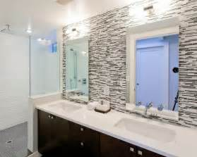 bathroom modern tile ideas backsplash:  backsplash black creekside tile glass backsplash tile espresso