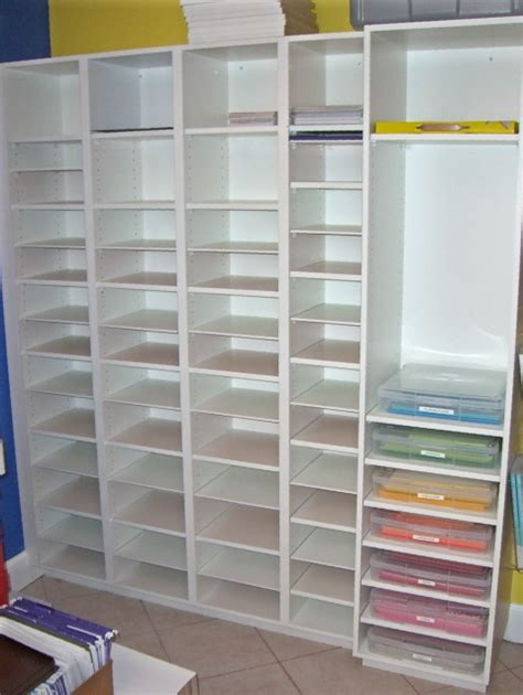 Craft Room Paper Storage - custom paper storage bead room craft room