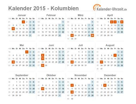 Kalender 2015 Feiertage Feiertage 2015 Kolumbien Kalender 220 Bersicht