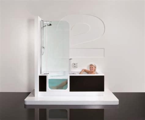 dusch badewannen the twinline innovative tub shower abode