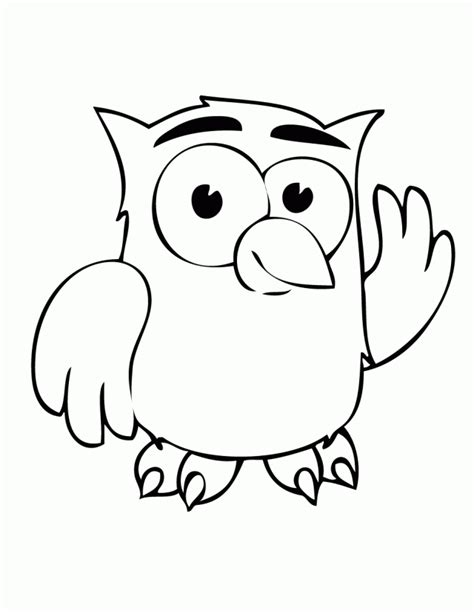 coloring pages of big owl cartoon owl clip art cliparts co