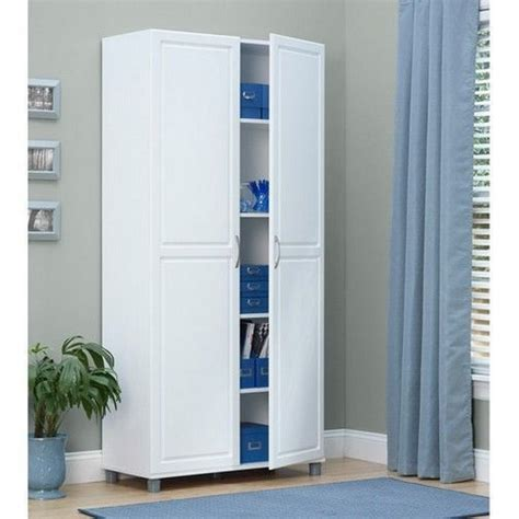 Enclosed Pantry Cabinet Standing Cabinet Storage Laundry Room Pantry Utility