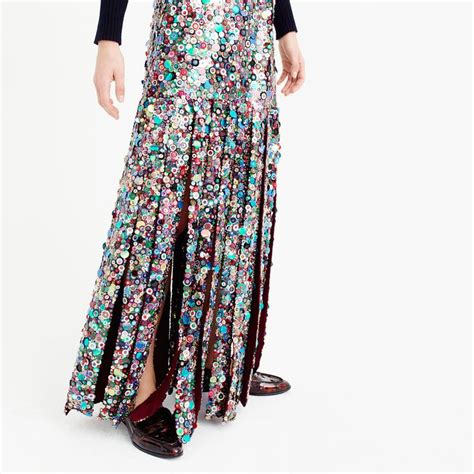 collection sequin maxi skirt j crew collection j crew