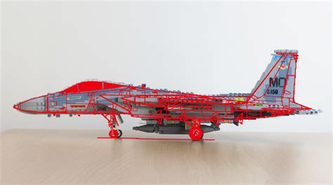 Lego F lego f 15 model and line drawing comparison there seems