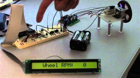 rpm meter  avr microcontroller qrd ir reflectance