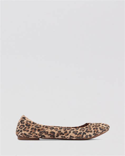 Flat Shoes Leopard Vnc Ori lucky brand ballet flats emmie in lyst